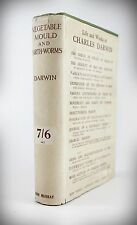 CHARLES DARWIN*1904*FORMATION OF VEGETABLE MOULD & EARTHWORMS+RARE DUSTWRAPPER
