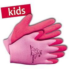 KIXX Kinder-Handschuhe Garten Arbeitshandschuhe Nylon/Latex Gr. 5 rosa