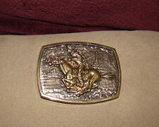 Made in Hong Kong, Silver Toned Paul Revere Riding Horse Western Belt Buckle,