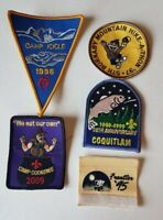 5 Boy Scouts of Canada Coquitlam Burnaby Camp 1995 Frontier Fish Patch Badge
