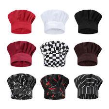 Professional Stretchy Adjustable Chef Hat Men Cap Kitchen Cook Waiter Cap Us