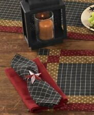 Primitive Country Folk Art Napkin Black Cotton Farmhouse Tabletop