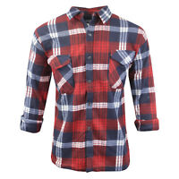 Mens WorkWear Cotton Blend Lumberjack Style Long Sleeve Shirt NEW M-XXL