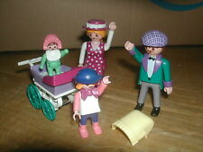 PLAYMOBIL VICTORIAN MANSION 5300  BABY CARRIAGE - MOM DAD GIRL BABY  5510