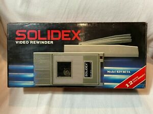 Brand New in Box Solidex Video Rewinder for Betamax Beta Ultra Rare Model 829