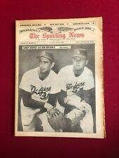 "1965, Koufax / Drysdale, ""Sporting News"" Magazine (No Label) Scarce / Vintage"
