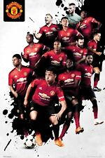 "MANCHESTER UNITED 2018/2019 PLAYERS POSTER ""LICENSED"" EPL (61X91.5cm)  BRAND NEW"