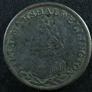 Halfpenny token Canadian Colonial #10 Free shipping Canada and the USA Week #28