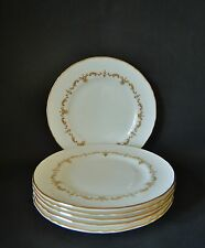 SIX ROYAL WORCESTER GOLD CHANTILLY  155mm PLATES GREAT CONDITION