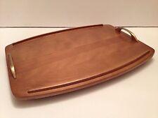 Baribocraft Canada Wooden Serving Tray Metal Handles