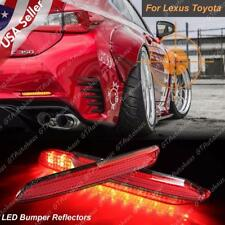 2x LED Red Lens Bumper Bright Taillight Reflector Brake Lights For Lexus Toyota