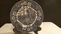 Royal Tudor Ware Coaching Taverns 1828 Staffordshire England Plate Post Office