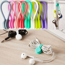 """Multifunction Magnet Earphone Cord Winder Cable Holder Organizer Clips 12 Pcs 4"""""""