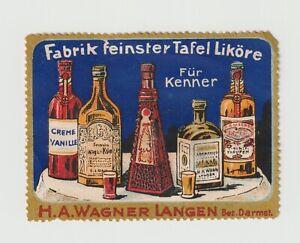 German- HA Wagner Langen, Liköre, Poster stamp Very clean NO gum