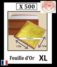 500 feuilles d' or XL 7 Cm 24 K Carats Veritable / Gold Leaf
