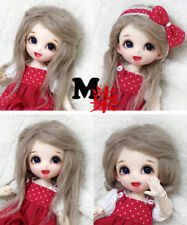 "5-6"" 14cm BJD fabric fur curly wig Milky Coffee for AE PukiFee lati 1/8 Doll"