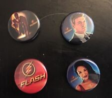 The FLASH CW TV Station button lot 0f 4 DC SIX FLAGS