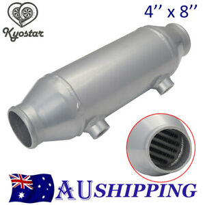 Universal  4'' x 8'' Bar & Plate Water to Air Intercooler For Supercharger Turbo