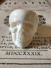 Mortality Ring : Memento mori : hand carved bone (Bos taurus) : human Skull ring