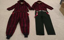 2 Vintage WOOLRICH MEN'S RED PLAID JACKET SIZE 40 42 & Pants Hunting