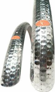 Velo Orange Hammered 700c x 45 Fender Set: Polished Silver (700c x 25- 35)