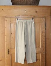 Hot Cotton Petite By Marc Ware~Capris~Beige~Linen Blend~Sz P~EUC