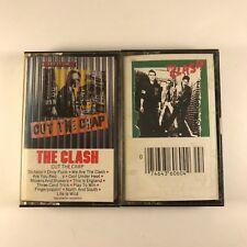 2 CLASH CASSETTE TAPES VG+ PUNK Cut The Crap & The Clash