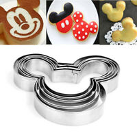5Pcs Mickey Mouse Biscuit Cutter Mould Cake Cookies Pastry Mold Baking Tools