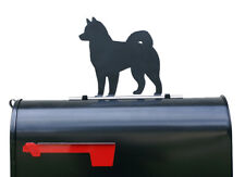 Husky Dog Silhouette Mailbox Topper / Sign - Powder Coated Steel -  USA Made