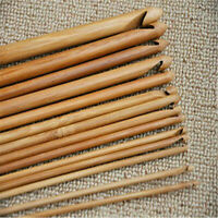Set of 12pcs Bamboo Crochet Hook Handle Crochet Hooks Knit Craft Knitting Needle