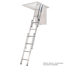 KASW30 Premier Aluminium Attic Ladder To suit 2340-3120 Ceiling Height