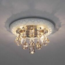 D73 Modern Simple  White Crystal Lamp Shade Bedroom Decoration Ceiling Light B