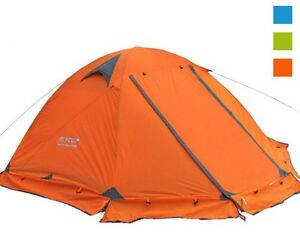 Orange Tent Double Layer 2 Person 4 Season Outdoor Camping Wind Snow Skirt Light