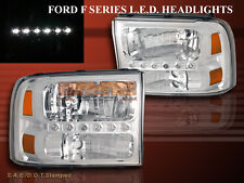99-04 F250/F350 SUPERDUTY / 00- 05 EXCURSION HEADLIGHTS 1PC LED 04 CLEAR
