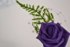Wedding buttonholes corsage groom bride ivory champagne fern variety of colours