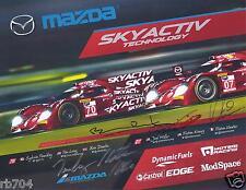 2014 IMSA TUDOR 12 Hours of Sebring Mazda Skyactive Diesel Hero Card Signed by 5