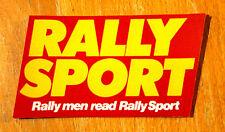 Rally Men Read Rally Sport Retro Magazine Cars Motorsport Sticker
