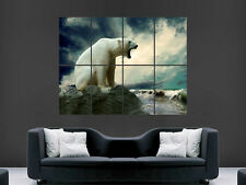 POLAR BEAR SEA SKY GIANT WALL POSTER ART PICTURE PRINT LARGE