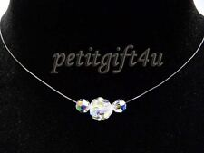 Swarovski Crystal Floating Necklace Wedding Bridal
