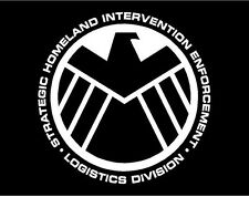 Agents of SHIELD Logo window computer sticker decal - Nick Fury & Agent Coulson