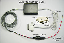 Motorcycle iPod Charger 12vdc System to iPhone, iPod, Nano, iTouch 0.5 amp rate