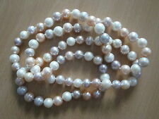 A+ 8mm Multicolor Opera Freshwater Cultured Pearl Necklace-nk56