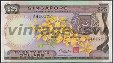 1972 SINGAPORE ORCHID $25.00 HSS W/SEAL A/39 440172 P-4 F