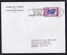 RARE 29.05.1959 !!! FLAMME SUR 50F STRASBOURG CONSEIL EUROPE COTE DALLAY 500 EUR