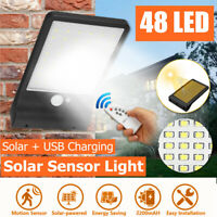 Waterproof 48 LED Solar Wall Street Light Outdoor PIR Motion Sensor Garden Lamp
