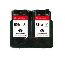 2 Compatible Canon PG640XL Black CL641XL Color Ink Cartridges Combo Value Pack