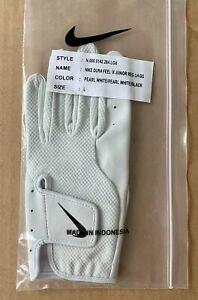 Nike Dura Feel IX Regular Left Hand Golf Glove Junior Large Pearl White