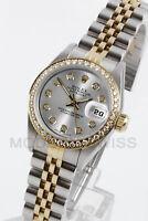 Rolex Ladies Datejust Gold & Steel Silver Diamond Dial, Bezel Jubilee 6917 2Tone