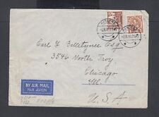 Denmark 1941 Wwii Censored Airmail Cover Randers To Chicago Illinois Usa