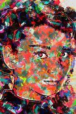 Audrey Hepburn moderno lienzo Arte Impresión